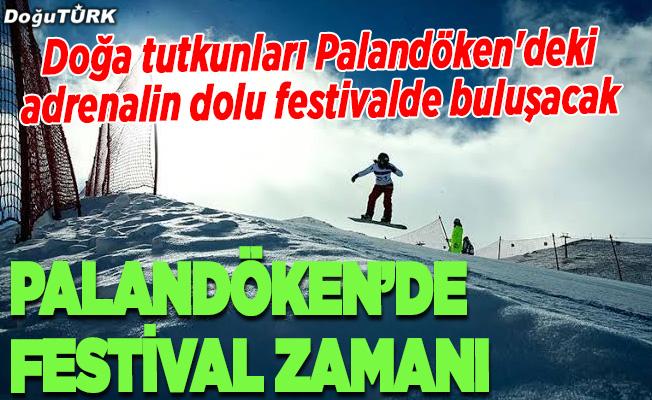 Doğa tutkunları Palandöken'deki adrenalin dolu festivalde buluşacak