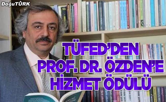 TÜFED'den Prof. Dr. Hacı Ömer Özden'e ödül