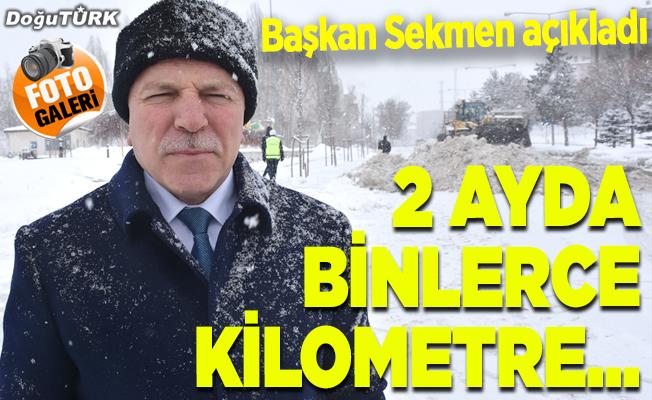 Karla mücadelenin kahramanları 2 ayda binlerce kilometre yol açtı