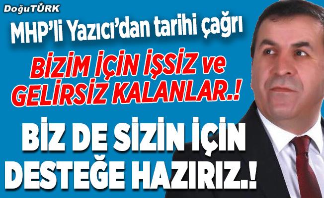 MHP'li Yazıcı'dan tarihi çağrı