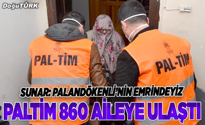 PALTİM 860 aileye ulaştı