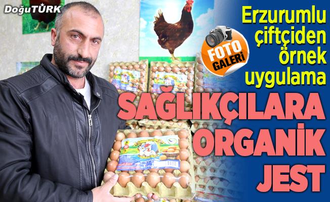 Sağlıkçılara organik jest
