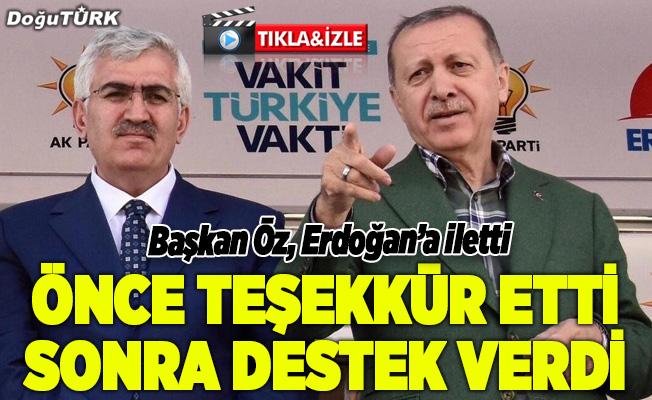 Başkan Öz istedi, Erdoğan destek verdi