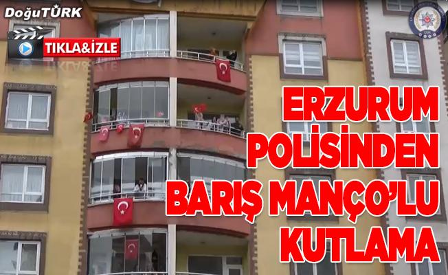 Erzurum polisinden Barış Manço'lu kutlama