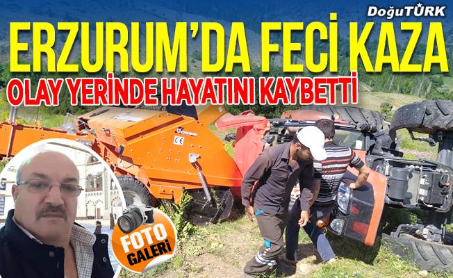 Erzurum'da feci kaza; olay yerinde hayatını kaybetti
