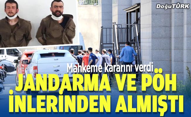 Erzurum'da yakalanan 2 terörist tutuklandı