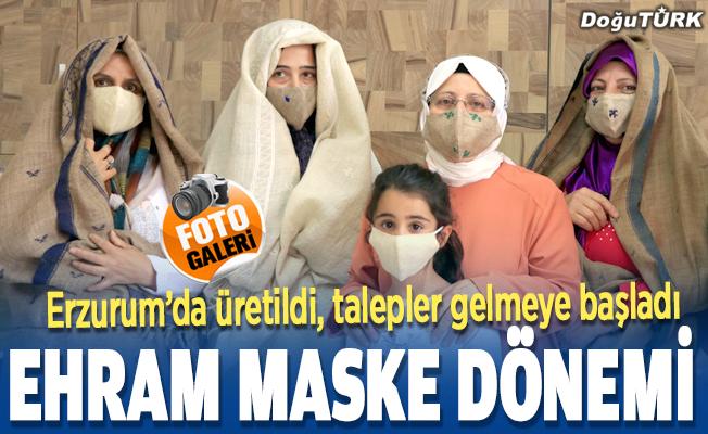 """Erzurum'un asırlık kumaşı """"ehram""""dan maske üretiliyor"""