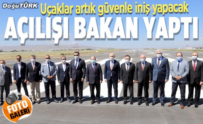 Erzurum'da havalimanı pist sorunu tarih oldu
