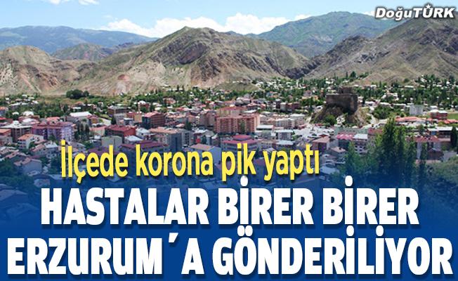 İlçede korona pik yaptı, 10 hasta Erzurum'a gönderildi