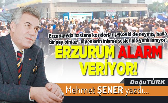 Erzurum alarm veriyor!