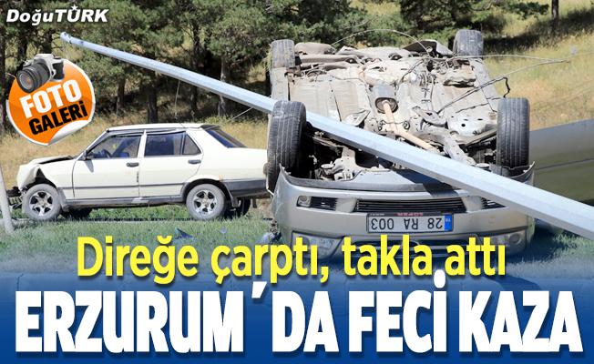 Erzurum'da feci kaza; yaralılar var