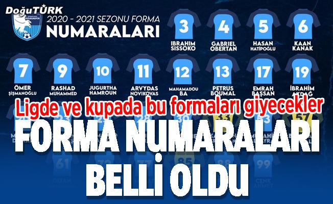 BB Erzurumspor'da forma numaraları belli oldu