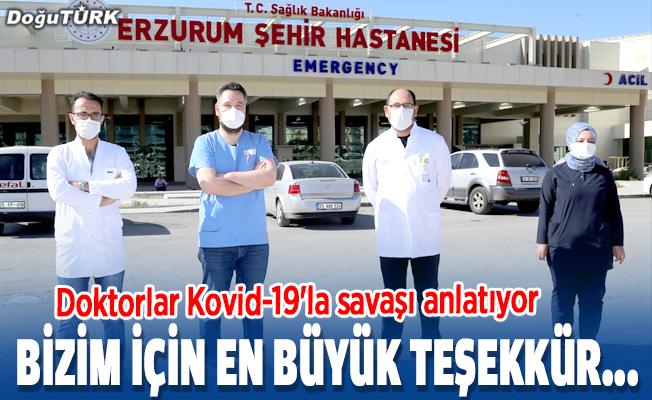 Bizim için en büyük teşekkür, vatandaşın maske takıp kurallara uymasıdır