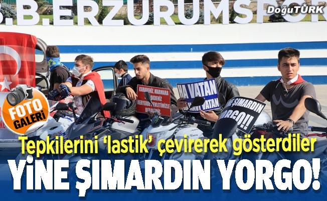 Erzurum'da tepki; Ha vatan ha mavi vatan!