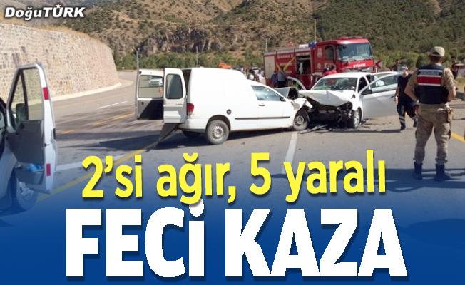 Erzurum'da trafik kazası: 5 yaralı