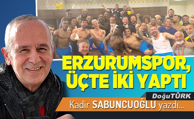 ERZURUMSPOR, ÜÇTE İKİ YAPTI