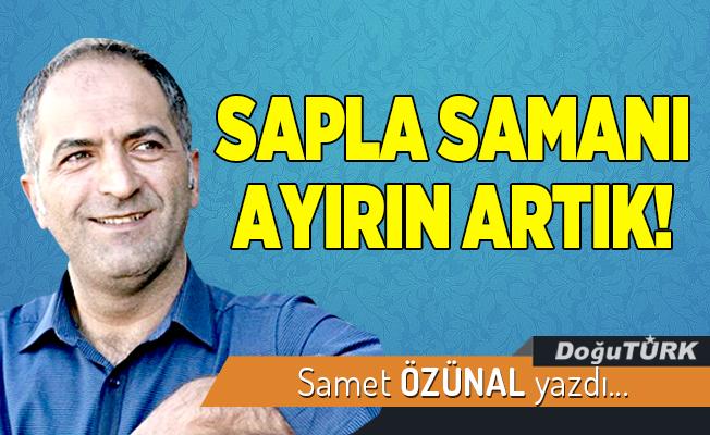 SAPLA SAMANI AYIRIN ARTIK!