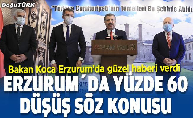 Bakan Koca: Erzurum'da yüzde 60 düşüş sözkonusu