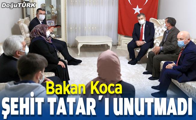 Bakan Koca şehit Burak Tatar'ı unutmadı