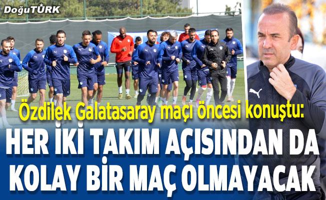BB Erzurumspor, Galatasaray karşısında kazanmayı hedefliyor