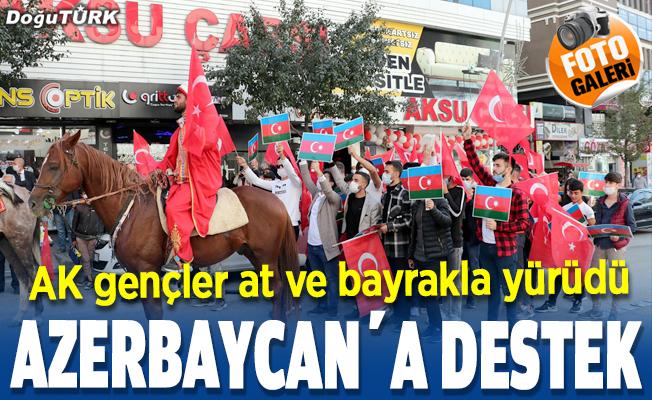 Erzurum'da Azerbaycan'a destek