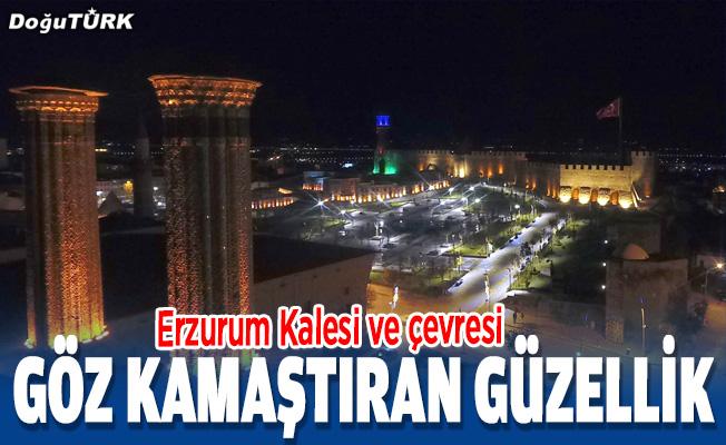 Erzurum Kalesi ve çevresi göz kamaştırıyor.