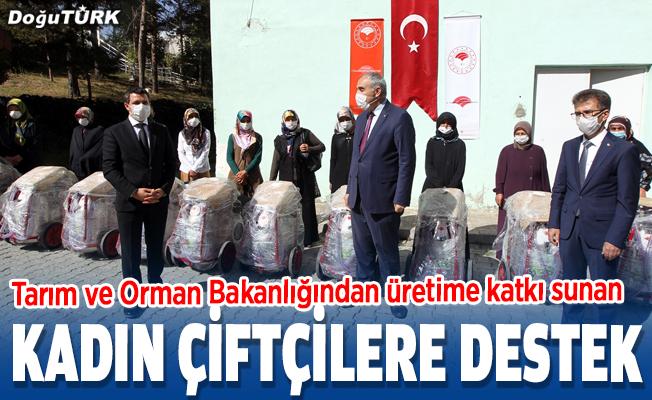Erzurumlu kadın çiftçilere destek