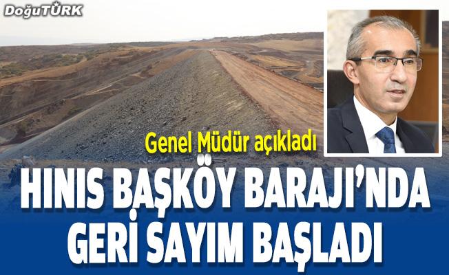 Hınıs Başköy Barajı'nda sona doğru