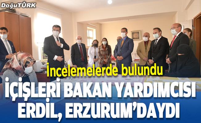 İçişleri Bakan Yardımcısı Erdil, Erzurum'da incelemelerde bulundu