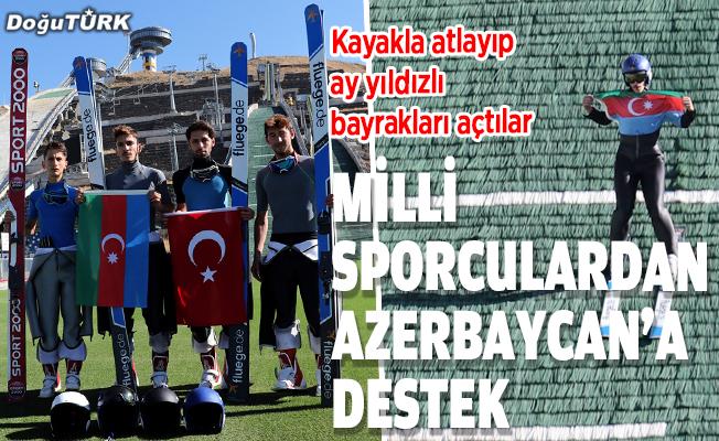 Milli sporculardan Azerbaycan'a destek