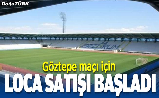 BB Erzurumspor'da Göztepe maçı için loca satışına başlandı