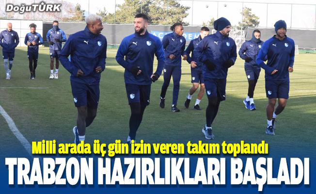 BB Erzurumspor, Trabzonspor maçı hazırlıklarına başladı