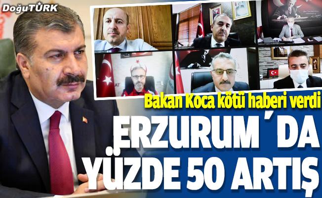Erzurum'da korona yüzde 50 arttı