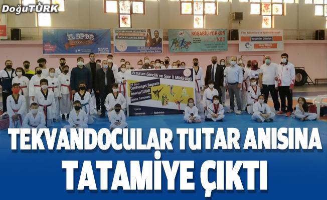 Erzurumlu tekvandocular, Zekeriya Tutar anısına tatamiye çıktı