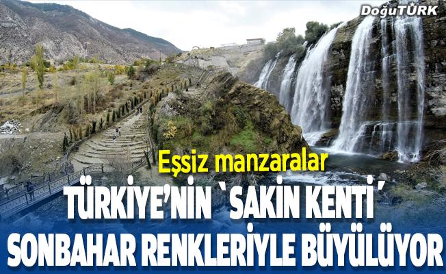 """Türkiye'nin """"sakin kenti"""" sonbahar renkleriyle büyülüyor"""