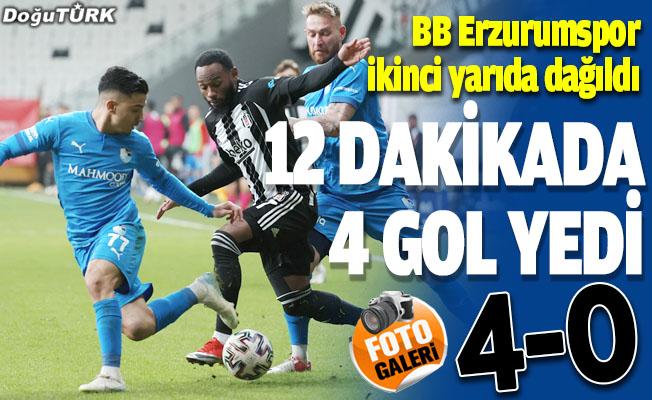 BB Erzurumspor ikinci yarıda dağıldı; 12 dakikada 4 gol