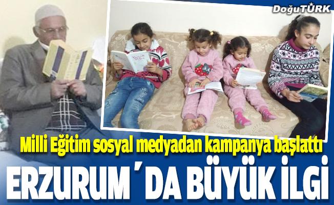 Erzurum'da başlatılan evde kitap okuma kampanyasına büyük ilgi