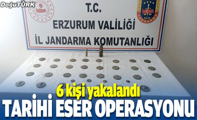 Erzurum'da tarihi eser operasyonu