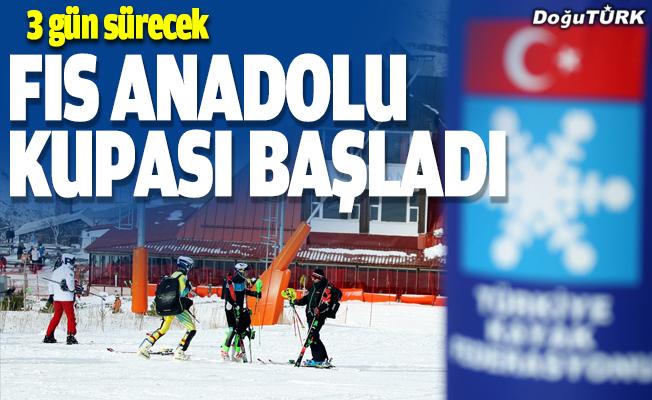 FIS Uluslararası Alp Disiplini Anadolu Kupası Erzurum'da başladı