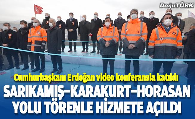 Sarıkamış-Karakurt-Horasan yolu açıldı