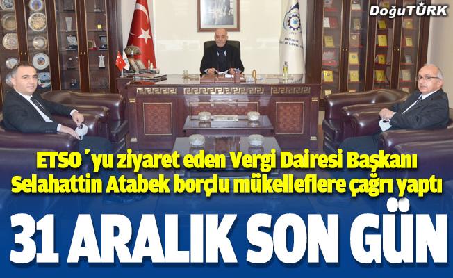 Vergi Dairesi Başkanı Atabek'ten, Başkan Yücelik'e ziyaret