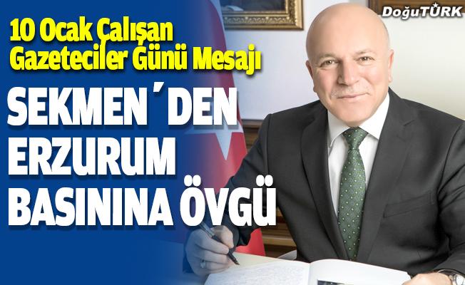 Başkan Sekmen'den 10 Ocak Çalışan Gazeteciler Günü Mesajı