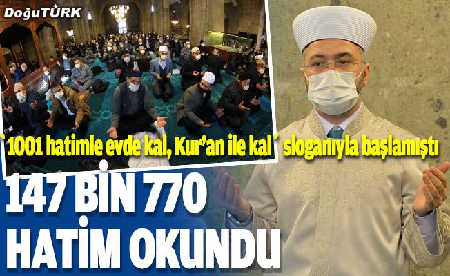 """Erzurum'un 5 asırlık geleneği """"1001 Hatim"""" tamamlandı"""