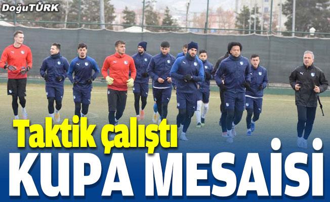 Erzurumspor'da kupa mesaisi