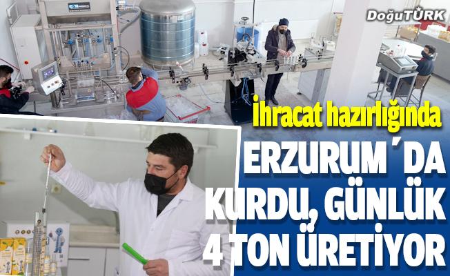 Erzurumlu girişimci kolonya ile yurtdışına açılıyor