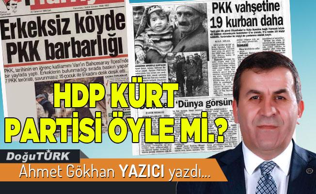 HDP KÜRT PARTİSİ ÖYLE Mİ.?
