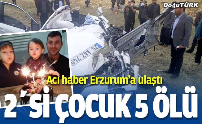 Acı haber Erzurum'a ulaştı, Uzman çavuş ve ailesi kazada yok oldu