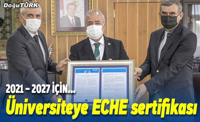 """Atatürk Üniversitesi """"ECHE Kalite Sertifikası"""" ile ödüllendirildi"""