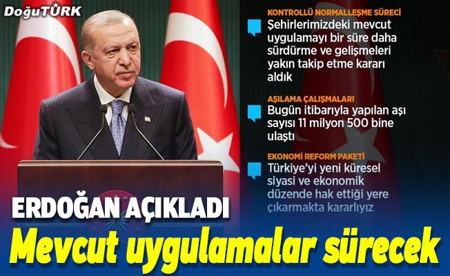 Cumhurbaşkanı Erdoğan: Yerli aşımız hazır hale gelene kadar yurt dışından aşı tedarikini sürdüreceğiz