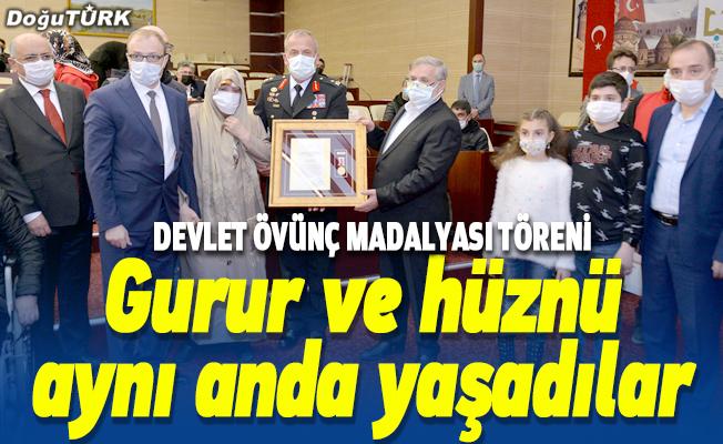 Erzurum'da Devlet Övünç Madalyası ve Beratı Töreni düzenlendi
